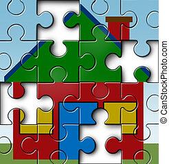 dom, finansując, wpłata, hipoteka