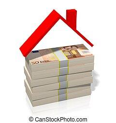 dom, formułować, -, 50, euro