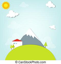 dom, góry