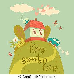 dom, home., słodki