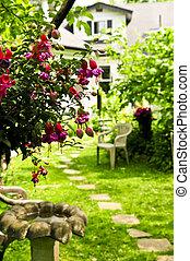 dom, i, ogród