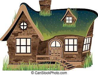 dom, kamień