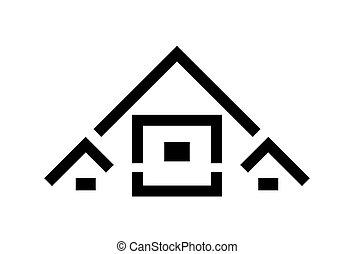 dom, logo, projektować, wektor, ilustracja