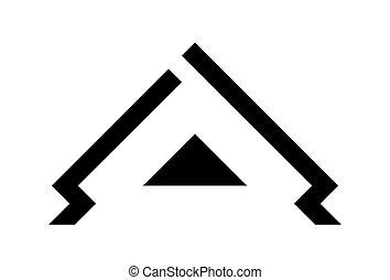 dom, logo, szablon, wektor, ilustracja