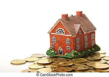 dom, monety