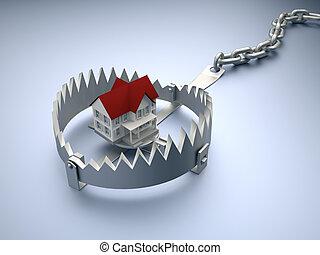 dom, na, pułapka