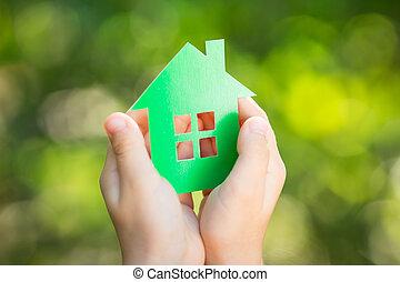 dom, papier, siła robocza