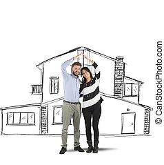 dom, para, planowanie