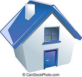 dom, połyskujący, ikona