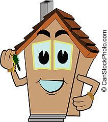 dom, pożądany, twój, nowy