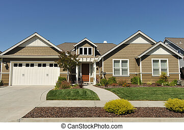 dom, podjazd, rodzina, dwa, jednorazowy, historia