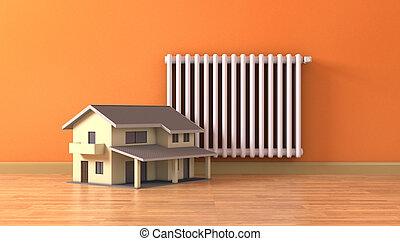dom, pojęcie, ogrzewanie