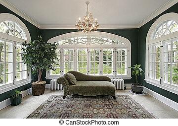 dom, pokój, luksus, słońce