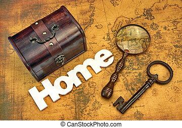 dom przetrząśnięcie, albo, emigracja, pojęcie