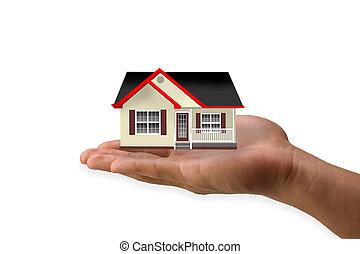 dom, ręka