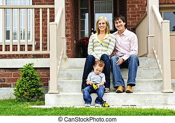 dom, rodzina, szczęśliwy