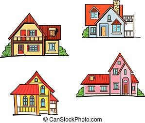 dom, styl, komplet, sztuka, hukiem