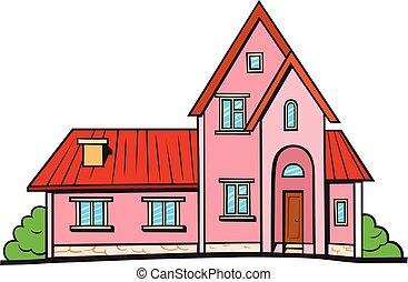 dom, styl, sztuka, rzeźnik, hukiem