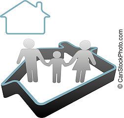 dom, symbol, rodzina dom