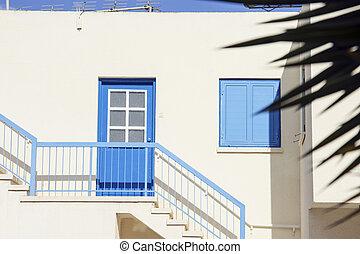 dom, szczegół, barwny