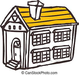 dom, umieszczony