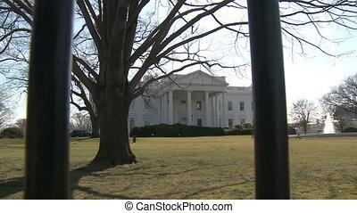 dom, u.s., biały, za chronią