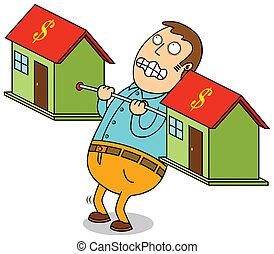 dom, wspaniały, kosztowny