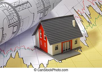 dom, wykres