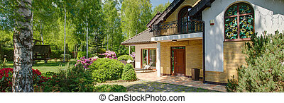 dom, z, ogród