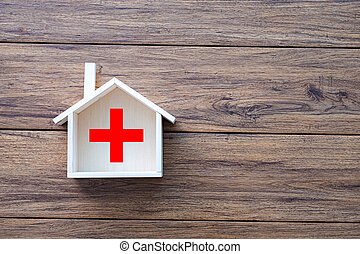 dom, zdrowie, słodki, dom, sanitarna troska, i, medycyna