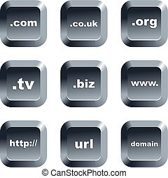 domain buttons - collection of domain keypad style buttons