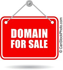 Domain for sale sign - Domain for sale vector sign