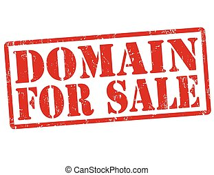 Domain for sale stamp - Domain for sale grunge rubber stamp...