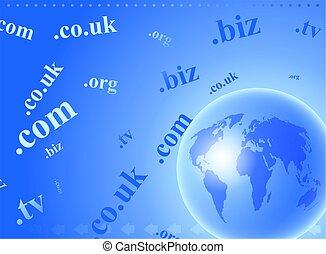 domain globe - abstract global domain name internet...