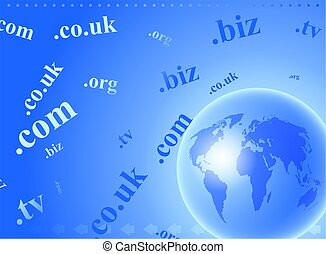 domain globe - abstract global domain name internet...