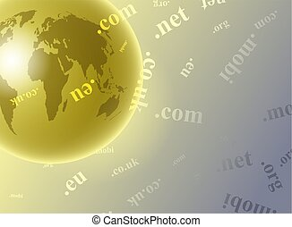domain globe - worldwide internet domain name global...