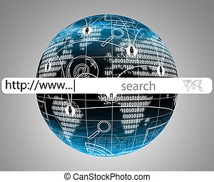 domain - Many abstract images on the theme of computers,...