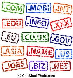 Domain Name Rubber Stamps - Domain name rubber stamp...