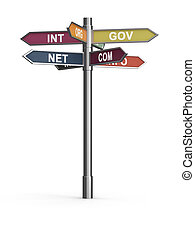 Domain names - 3d render of domain names internet concept....
