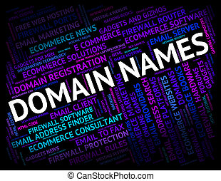 Domain Names Showing Moniker Tag And Designation