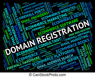 Domain Registration Indicates Sign Up And Application - ...