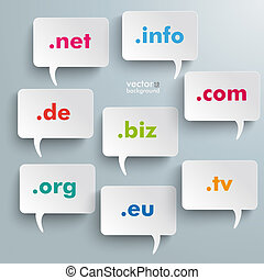 Domain Speech Bubbles - Infographic design with white...