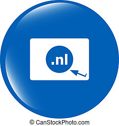 domaine, nl, symbole, signe, internet, top-level, icon.