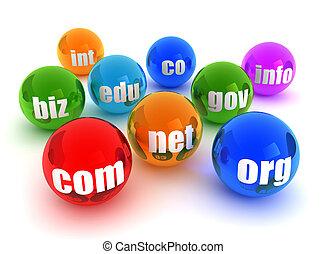 domains concept illustration