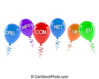 Domains with balloons
