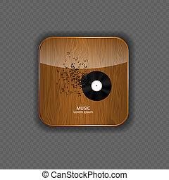 domanda, legno, musica, icone