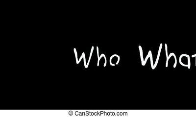 domanda, parole, fotomontaggio