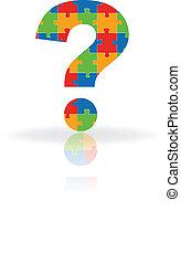 domanda, puzzle, marchio