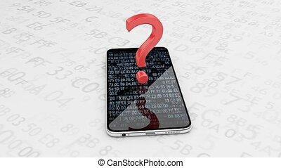 domande, e, risposte, mobile, communication.., telefono...