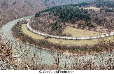 Domasinsky meander, Slovakia - Domasinsky meander on river...